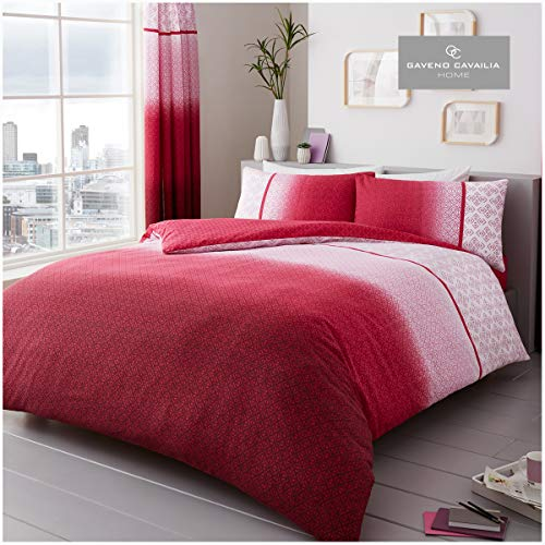 Gaveno Cavailia Bed Set with Duvet Cover and Pillow, Polycotton, Urban-Ombre-Pink, King