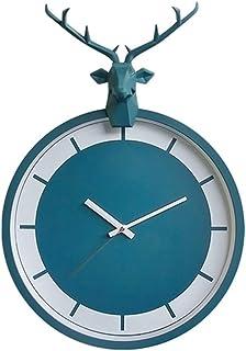 Reloj De Pared De Números Reloj de pared de la sala de estar mudo creativo casero Reloj despertador Habitación Dormitorio ...