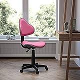 Flash Furniture Pink Fabric Swivel Ergonomic Task Office Chair