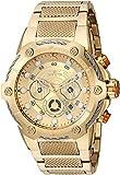 Invicta Men's Star Wars Quartz Watch with Stainless-Steel Strap, Gold, 29 (Model: 27115)