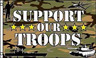 Support Our Troops Camouflage Flag 3x5 Feet, Camo, Patriotic Military USA Army