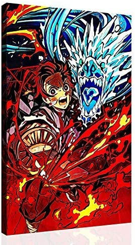 Anime Poster Demon Slayer Kamado Nezuko Canvas Art Poster Picture Modern Office Family Bedroom Poster Decorative Posters Gift Wall Decor Painting Posters