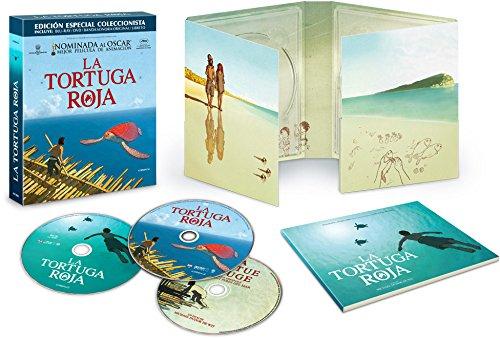 La tortue rouge (LA TORTUGA ROJA - BLU RAY+DVD - ED.COLECCIONISTA, Importé d'Espagne, langues sur les détails)