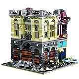 Modelo de bloques de construcción de casa modular, 2193+ piezas, abrazadera de teatro arruinado bloques de construcción arquitectura juego de construcción personalizado compatible con Lego, Banco