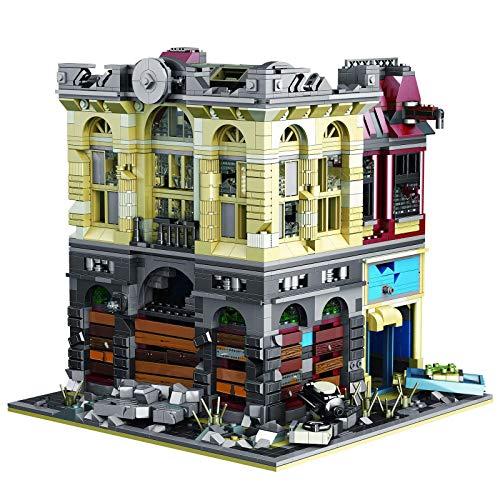 2453 STK bloques de construcción bancario arquitectura modelo edificio DIY bloques de construcción casa bloque terminal casa ciudad compatible con Lego Architecture (Bank)