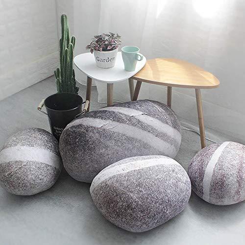Neue Solide Kreative 3D Simulation Stein Kissen Kieselsteine Baumwolle Weiß Große Kissen Faul Kreative Home Decor Lustige Weiche Kissen 42x31cm