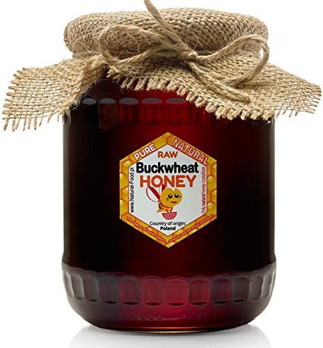 Miele di grano saraceno da Polonia   1,1 kg   Fresco   Non pastorizzato, naturale, crudo   Molto sano e gustoso   Barattolo di vetro   Fatto dalle api  
