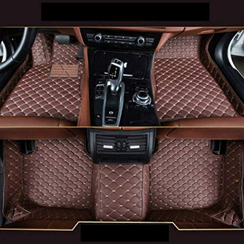 Custom Car Front and Rear Floor Mats Fit for Ford F150 2011-2014 Pickup 4 Door Full Coverage All Weather Protection Waterproof Non-slip Anti-Scratch Leather Auto Floor Liner Carpet Set Coffee