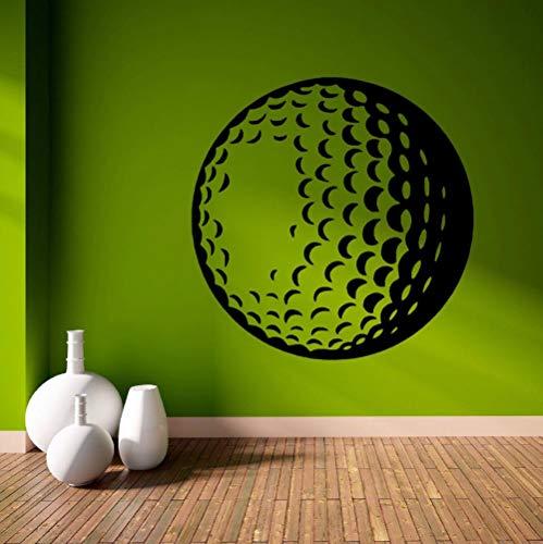 rylryl Golfball Sport Thema Wandaufkleber für Wohnzimmer Tapete Home Murals Vinyl Aufkleber Sport Room Art Decor Aufkleber 57x57 cm
