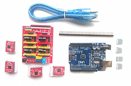 Cloud Sensor 3D Printer Kit: Cnc Shield V3 Expansion Board and 4Pcs A4988 and Uno R3