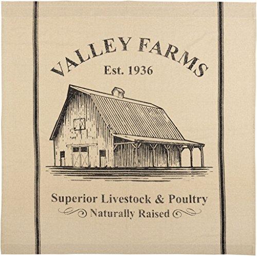 VHC Brands Valley Farms Farmhouse Barn Shower Curtain 72x72