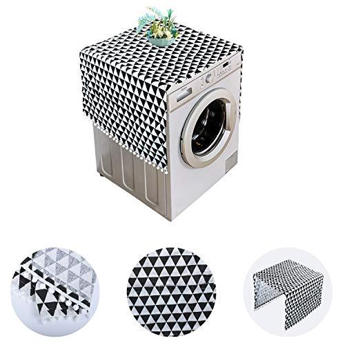 KATELUO Kühlschrank Staubschutz, Waschmaschinenbezug,Kühlschrank Staubschutz mit Aufbewahrungstasche, Staubschutzhülle für Kühlschrank Trockner Waschmaschine (Style A)