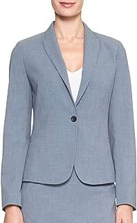 Women's Machine Washable Chambray Melange One-Button Blazer