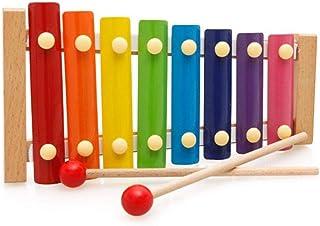 ألعاب اكسيلوفون التعليمية المبكرة للأطفال ، لعبة مبادئ موسيقى الأطفال تسحب على البيانو بثمانية ألوان ودرجات لون لعبة سحب خ...