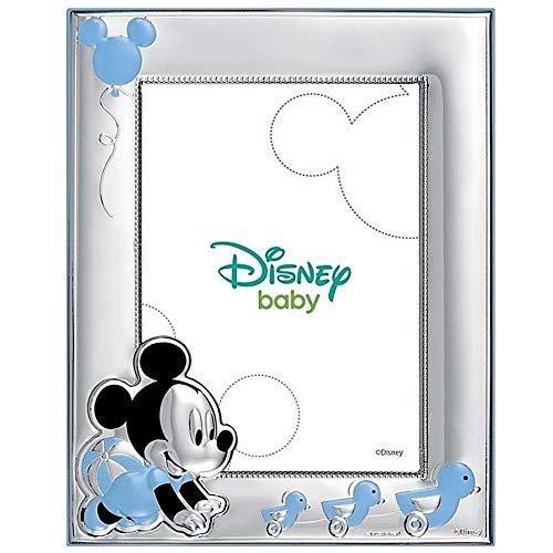 Cadre Photo Portafotos Plata 925M Disney 18X13Cm Loi. Mickey [Ab9993]
