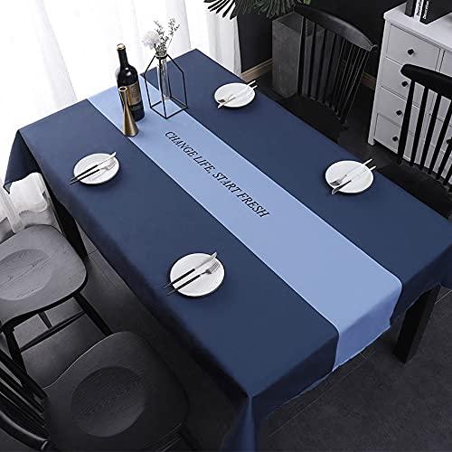 Mantel Rectangular de Rayas Nórdicas Mantel Impermeable Mantel a Prueba de Aceite Mantel Rectangular P 140x200cm