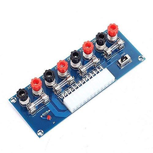 KONGZIR XH-M229 24 Pines ATX módulo Adaptador de Tarjeta de Adaptador de alimentación del Ordenador de sobremesa de alimentación ATX de 12V 5V 3.3V Breakout Punto Steuermodul