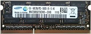 4GB Samsung 4GB PC3-10600 DDR3-1333MHz non-ECC Unbuffered CL9 204-Pin SoDimm Memory Module Mfr P/N M473B5273CH0-CH9