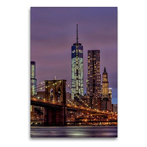 CALVENDO Premium Textil-Leinwand 60 x 90 cm Hoch-Format New York City - USA, Leinwanddruck von TomKli