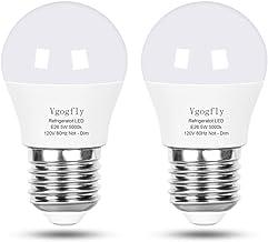 LED Refrigerator Light Bulb 40W Equivalent 120V A15 Fridge Waterproof Bulbs 5 W Daylight White 5000K E26 Medium Base Freez...