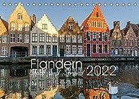 Flandern - Stadt und Strand (Tischkalender 2022 DIN A5 quer): Bilder aus Belgiens Kuestenregion (Monatskalender, 14 Seiten )
