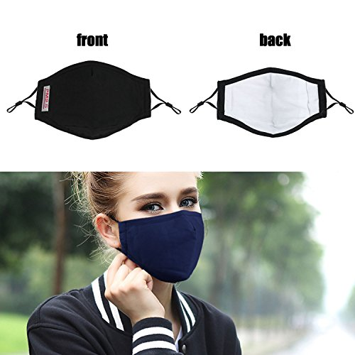 Fanspack 4PCS Mouth Cover Adjustable Dust Proof Mouth Cover Cotton Mouth Cover with Filter