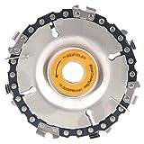 TQNSSM Disco de sierra de cadena de 4 pulgadas Hoja de corte Amoladora angular Accesorios Disco de tallado de madera de carburo