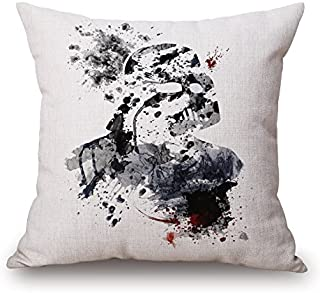 Elliot_yew The Star War Watercolor Painting Decorative Printed Cotton Linen Throw Pillow Covers Pillow Case Pillowcase Cushion Shell 18