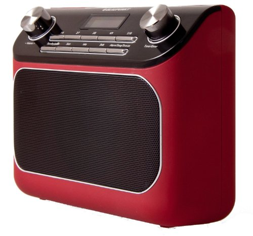 Blaupunkt RX+ 45e Digitales Uhren-Radio, DAB+ Radio, ERP2, Radio mit Sleep Timer, inkl. Netzteil, DAB+ Radio rot