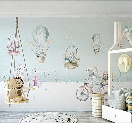3D Wandbild Tapete Personalisierte Große Tapete 3D Wandbild Heißluftballon Nordic Kinderzimmer Innendekoration-280X200cm