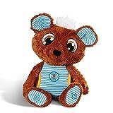 NICI Schlafmützen Schlummergeschichten-Bär Schlummsi in blauem Pyjama – Kuscheltier Teddybär – Gutenachtgeschichten Plüschtier Bär – Flauschiges Stofftier zum Einschlafen – Tolles Schmusetier – 44531