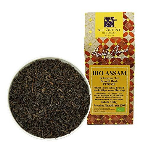 All Orient BIO Assam | 100g | Schwarzer Tee lose | FTGFOP - Blatt Tee | Second Flush | Assam Tee lose | Naturbelassen | Ohne Zusatz von Aromen
