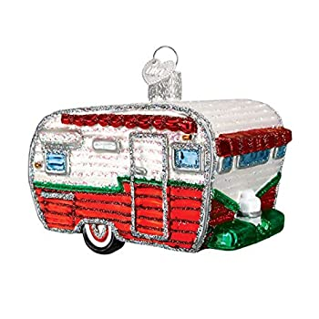 Old World Christmas Camping Outdoor Collection Glass Blown Ornaments for Christmas Tree RV Red/Green/White