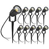 Pack de 10 Foco LEDs con Pincho para Blanco Cálido Jardín 5W 220V Luz LED para Exteriores