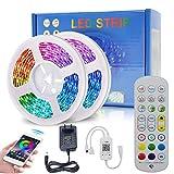 Luci LED Bluetooth 10 m/32,8ft DDS-DUDES 5050 RGB 300 led musica sincronizzazione cambia colore striscia luce con Bluetooth Smartphone APP e 24 tasti IR telecomando Kit
