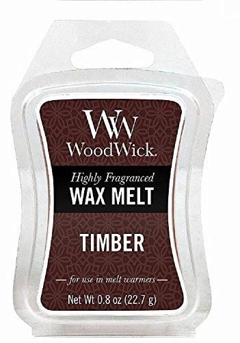 Woodwick 57087EU Mini Hourglass Wax Melt Timber, Marrone, 5.8x9x2 cm, 6 unità