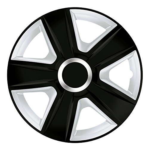 15pulgadas bicolor Tapacubos Esprit DC RC (Negro/Plata Con Anillo Cromado). Tapacubos apto para Opel Vehículos
