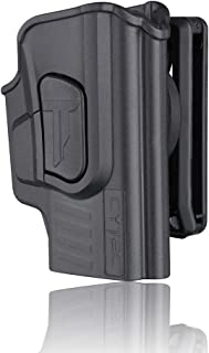 Sig P365 Holsters, OWB Holster for Sig Sauer P365 Micro-Compact Size 9mm Pistol W/O Light or Laser, Polymer Tactical Outside The Waistband Carry Belt Holster with 360° Adjustable Cant/Direction -RH