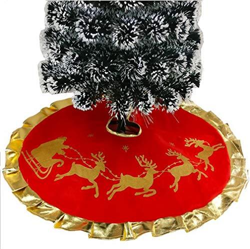 Da.Wa 1X 100CM Rojo Árbol de Navidad Falda Alces de Navidad Pie...