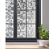 LMKJ Película de Ventana de privacidad estática sin Pegamento 3D película de Mosaico de Vidrio Decorativo Adhesivo de Vidrio Opaco Autoadhesivo A72 60x200cm
