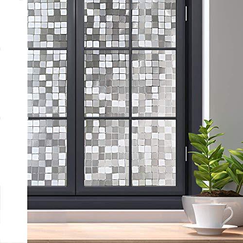LMKJ Película de Ventana de privacidad estática sin Pegamento 3D película de Mosaico de Vidrio Decorativo Adhesivo de Vidrio Opaco Autoadhesivo A72 60x100cm