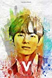 V: BTS Member Color Splatter Art 100 Page 6 x 9' Blank Lined Notebook Kpop Army Merch Journal Book (BTS Member Color Splatter Art Notebooks)