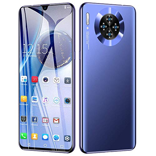 Mobile Phones M30pro Android 9.0 Ten Cores 8GB RAM + 64GB ROM, Smartphones Unlocked, 6.3 inch FHD Waterdrop Screen, 16MP + 8MP, 4800mAh Wifi, GPS Face Fingerprint ID Cell Phone