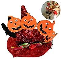 ハロウィーンパーティーのためのクリエイティブペットハット装飾パンプキンスパイダー犬パーティーハットペットコスチュームアクセサリー用品 (Color : 5, Size : M)