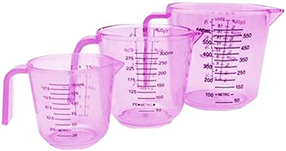 JIAYIZS Measuring Cup, Plastic Measuring Cups,with Handle,Household Measuring Cups-Double Scale, Tool (Color : Red, Size : 300ml)