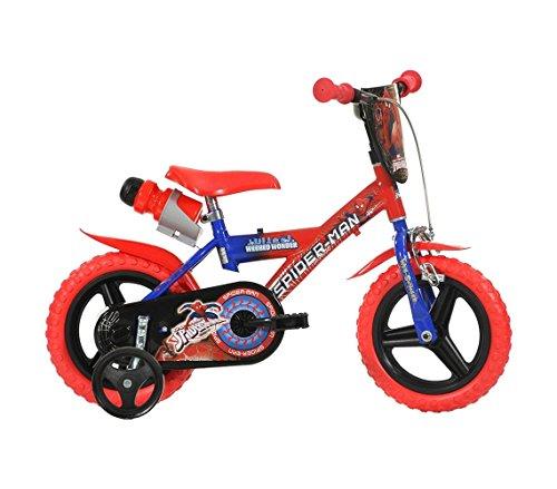 Mediawave Store kinderfiets Dino Bikes 123 GL-SP maat 12 Spiderman leeftijd 3-5 jaar