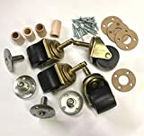 Wide Poly Wheel Caster Kit/Set for Upright/Vertical Piano