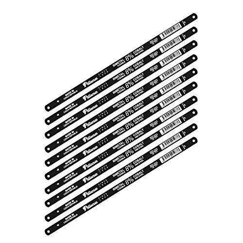 PILANA Bi-Metall Handsägeblatt für Metall 8{3453cc30e3617717281277c0c4c2696ad5cff18f4d3bbc9f983b1d14dc9895f5} Cobalt 18 TPI - 10 Stück
