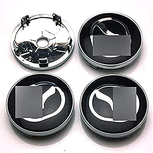 ZXKQ 4 Piezas Tapas Centrales Tapacubos, para Mazda 2 3 6 CX-5 CX-7 CX-8 3D 60mm Centro De Rueda con Logo ProteccióN Accesorios