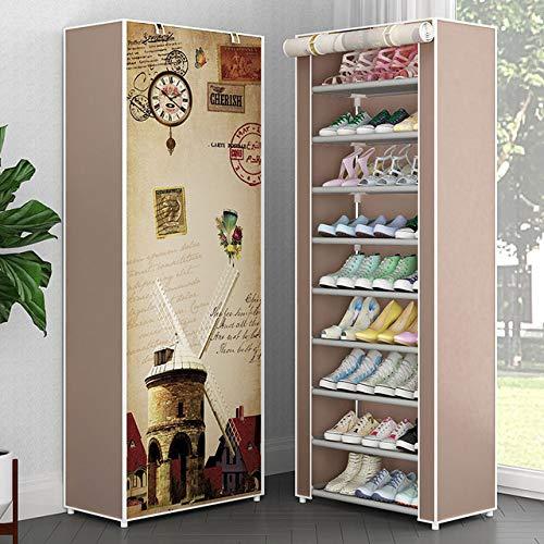 LKU Schoenrek Multi-layer schoenenrek non-woven home shoe storage box is eenvoudig te installeren, schoenenkast beugel